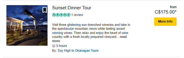 Sunset Dinner- TripAdvisor Special Prices