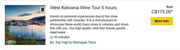 West Kelowna 5 Hour-TripAdvisor Special Prices